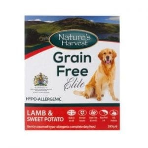 natures harvest grain free elite lamb and sweet potato